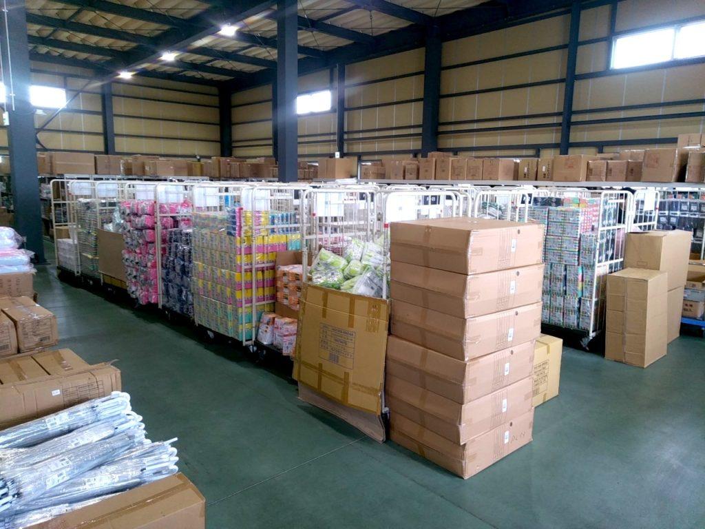 日用品の倉庫